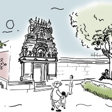 Authors' vision for a green, healthy, and active neighbourhood in Bengaluru, India.
